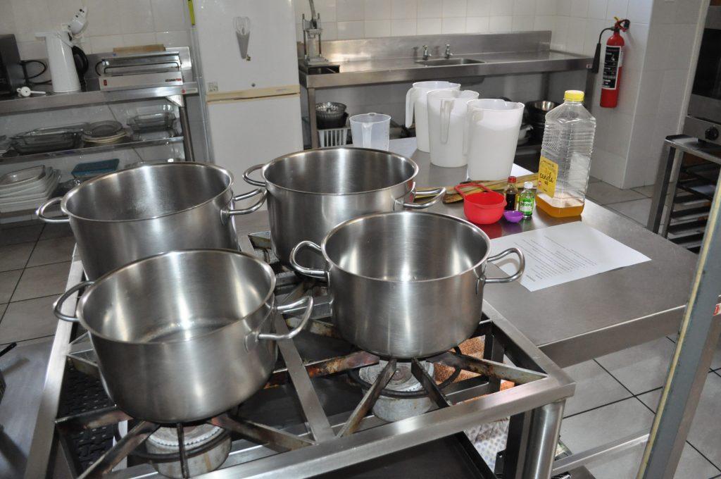 The kitchen before making playdough